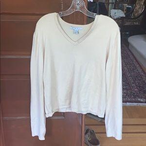 cAbi tan v-neck sweater